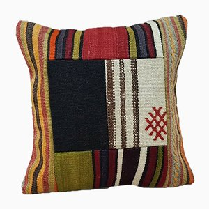 Turkish Patchwork Kilim Cushion Cover from Vintage Pillow Store Contemporary, 2010s