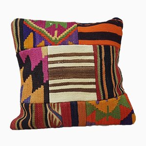 Turkish Patchwork Kilim Pillow Cover from Vintage Pillow Store Contemporary