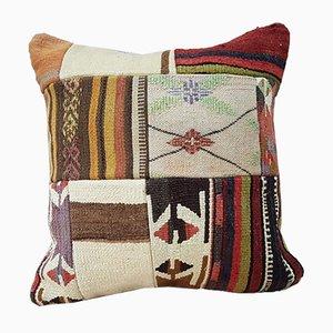 Großer farbenfroher türkischer Kelim Kissenbezug von Vintage Pillow Store Contemporary