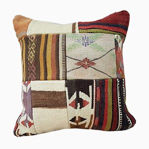 Large Turkish Colorful Kilim Pillow Cover from Vintage Pillow Store Contemporary