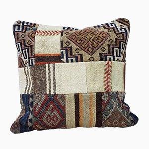 Federa patchwork con stampa tribale di Vintage Pillow Store Contemporary