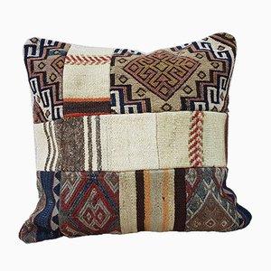 Patchwork Kissenbezug mit Stammesdruck von Vintage Pillow Store Contemporary