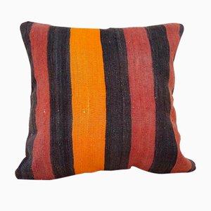 Großer orangener Kelim Kissenbezug von Vintage Pillow Store Contemporary