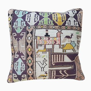 Animal Pattern Kilim Cushion Cover from Vintage Pillow Store Company, 2010s