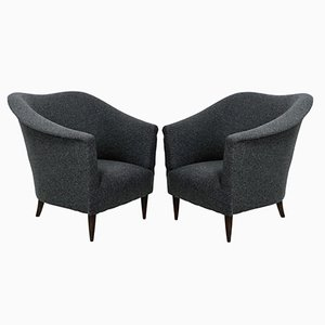 Mid-Century Italian Sculptural Armchairs, 1950s, Set of 2