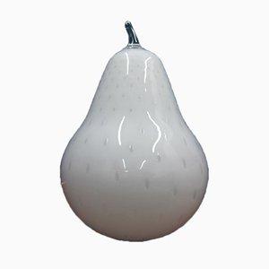 Lámpara de mesa vintage en forma de pera de vidrio