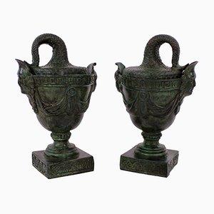 Tazre antiche in bronzo, inizio XX secolo, set di 2