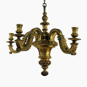 Englischer Kronleuchter aus vergoldeter Bronze, 1830er