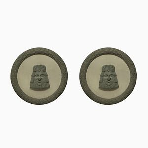 Country House Roundels, 1930s, Set of 2