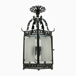English Bronze Hanging Lantern, 1850s