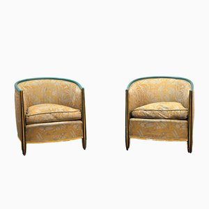 Art Deco Armchairs, Set of 2