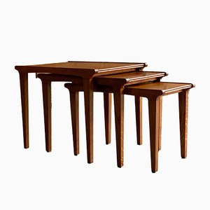 Golden Oak Nesting Tables from Gordon Russel, 1950s