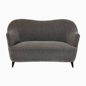 Italienisches Zwei-Sitzer Sofa aus Samt, 1950er