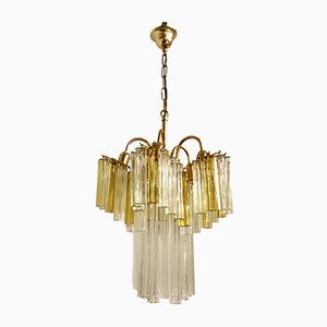 Mid-Century Crystal Prism Chandelier by Paolo Venini, 1970s