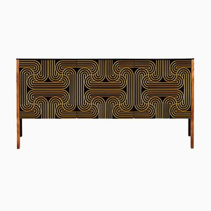 Gold 3 Door Loop Sideboard by Coucou Manou