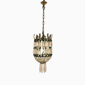Lampe à Suspension Mid-Century en Cristal