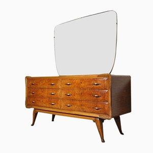 Cajonera italiana Art Déco con espejo, años 30