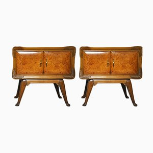 Art Deco Italian Nightstands, 1930s, Set of 2