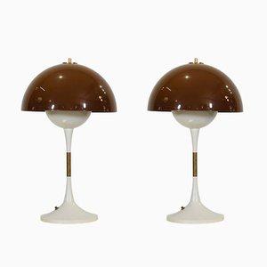 Lámparas de mesa danesas de Lyfa, años 60. Juego de 2