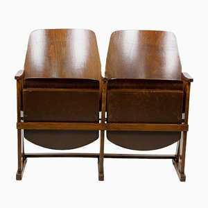 Vintage 2-Seater Cinema Bench from TON, 1960s