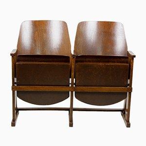 Vintage 2-Sitzer Kinobank von TON, 1960er