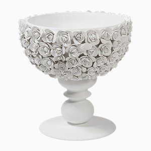 Italian Ceramic Coco Camelie Cup with Base by Marco Segantin for VGnewtrend