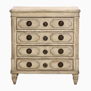 Antique Gustavian Chest of Four Drawers, 1780s