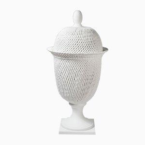 Jarrón Potiche de cerámica con tapa de VGnewtrend