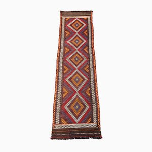 Antique Handwoven Wool Kilim Runner