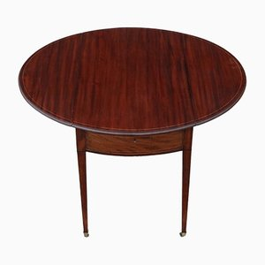 Table d'Appoint Regency Antique en Acajou Marqueté