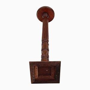 Antique Victorian Mahogany Torchiere Pedestal