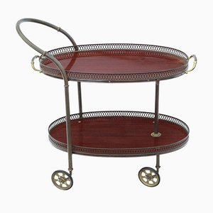 Art Deco Mahogany Buffet Serving Trolley, 1920s