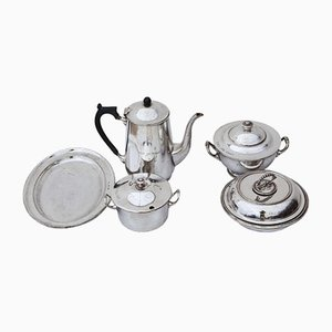 Antique Silver Plated Tableware Set