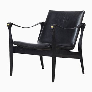 Safari Lounge Chair by Ebbe & Karen Clemmensen for Fritz Hansen, 1960s