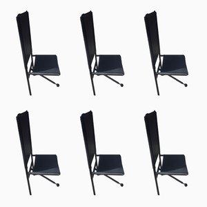 Esszimmerstühle mit Dreibeinfuß, 1970er, 6er Set