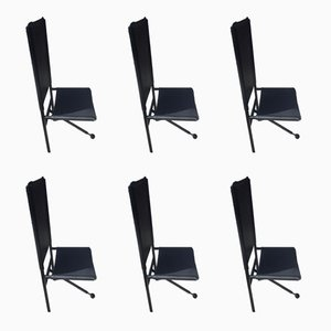 Tripod Base Dining Chairs, 1970s, Set of 6