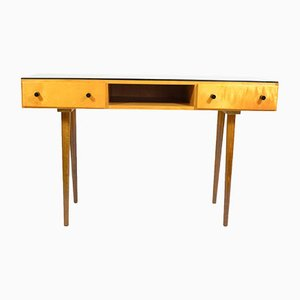 Dressing Table with Black Glass Top by Mojmír Požár for UP Závody, 1970s