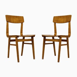 Latvian Plywood Chairs, 1981, Set of 2