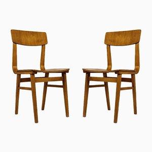 Lettische Stühle aus Schichtholz, 1981, Set of 2