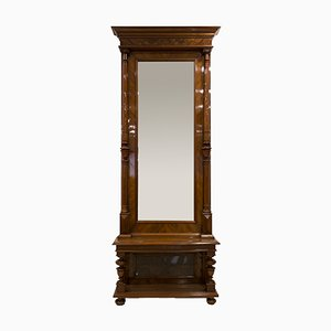 Antique German Hallway Mirror with Console