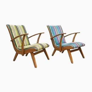 Vintage Dutch Armchairs, Set of 2