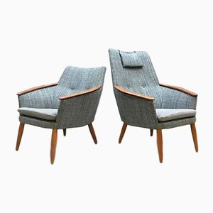 Vintage Dutch Armchairs by Madsen & Schubell for Bovenkamp, Set of 2