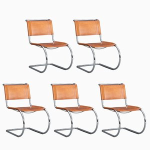 MR10 Cantilever Chairs by Mies van der Rohe for Thonet, 1980s, Set of 5