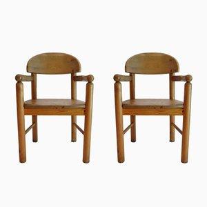 Dänische Esszimmerstühle aus Kiefernholz von Rainer Daumiller für Hirtshals, 1970er, 2er Set