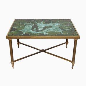 Table Basse à Carreaux Vintage par Henri Plisson