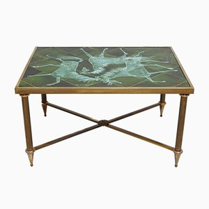 Vintage Tile Top Coffee Table by Henri Plisson