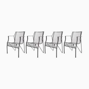 Metalástica Stühle von Oscar Tusquets für BD Barcelona, 4er Set