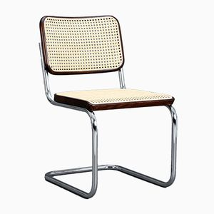 S32 Brown Cantilever Chair by Marcel Breuer for Thonet, 1980s