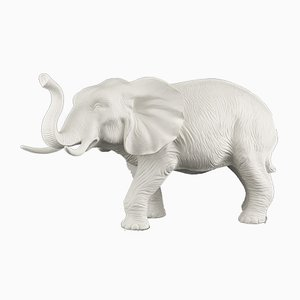 Italian Ceramic African Mother Elephant Sculpture from VGnewtrend