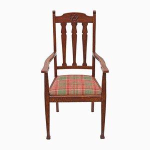 Antique Art Nouveau Oak Desk Chair